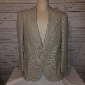 Men's Haggar Twill Sports Coat 46R Two Button